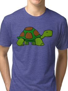 Slow Happy Turtle Tri-blend T-Shirt