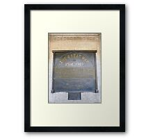 Less we forget Anzac Day Framed Print