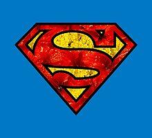 Floral Superman/Supergirl by cybercaffeine