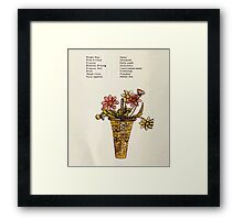 Language of Flowers Kate Greenaway 1884 0038 Descriptions of Specific Flower Significations Framed Print