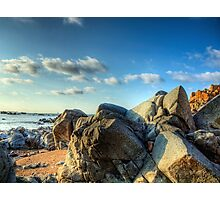 Rocks Near Torgis - Alderney Photographic Print
