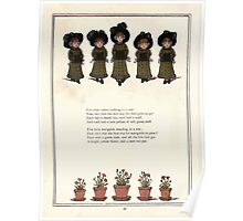 Under the Window Pictures and Rhymes for Children Edmund Evans and Kate Greenaway 1878 0032 Five Little Sisters Poster