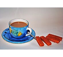 'Tea and fish fingers' Photographic Print