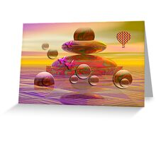 The balloon trip Greeting Card