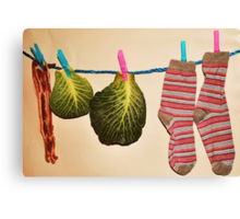 'Bacon, Cabbage and Stripey Socks' Canvas Print
