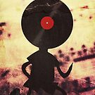 Vinyl Man! Vinylized!!! Vinyl Records DJ Retro Music Lovers T-Shirt Stickers Prints by Denis Marsili - DDTK