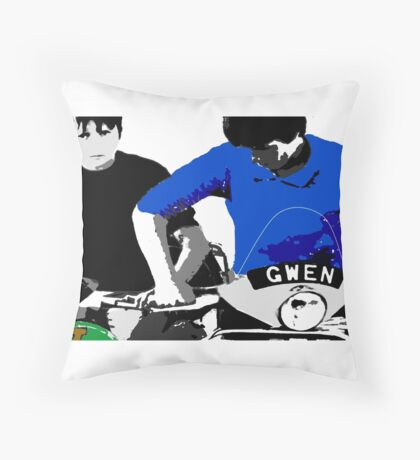 Gwen and Jackie Throw Pillow