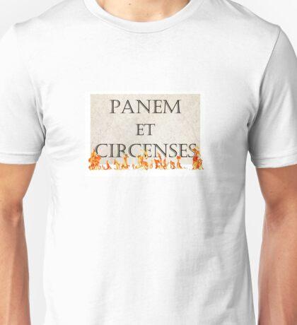Panem et Circenses Mockingjay Revolution Fire Unisex T-Shirt