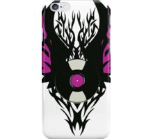 Vinyl Record Retro Punk Spikes Tribal with Wings - Purple Design iPhone Case/Skin