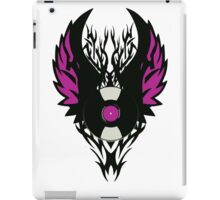 Vinyl Record Retro Punk Spikes Tribal with Wings - Purple Design iPad Case/Skin