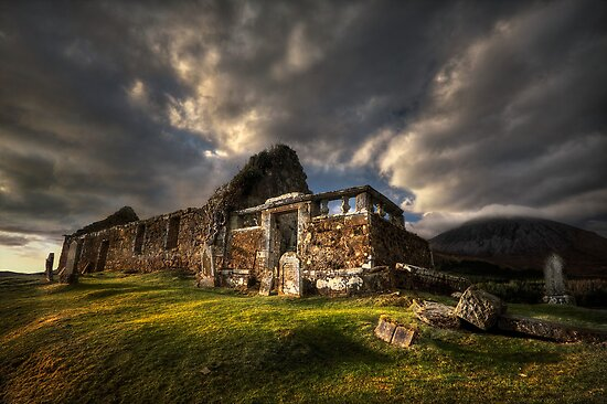 Kirk at Cill Chriosd, ( Kilchrist ) . Isle of Skye, Scotland. by PhotosEcosse