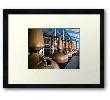 Whisky distillery stills Framed Print