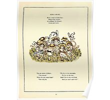 Marigold Garden Pictures and Rhymes Kate Grenaway 1900 0051 Ring a Ring Poster