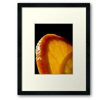 Black - Orange - Yellow Framed Print