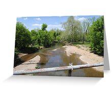 Turnback Creek Flowing under Route 66 Greeting Card