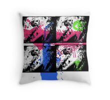 Graffiti Zef Queen Throw Pillow