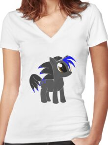 Sonic the pony Women's Fitted V-Neck T-Shirt