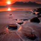 Sunset over the Isle of Rhum, Western Scotland. by PhotosEcosse