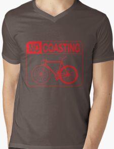No Coasting Mens V-Neck T-Shirt
