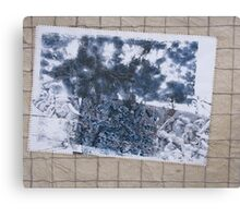Cadavre Exquis #4 Dreaming Wall - Collaborative work Canvas Print