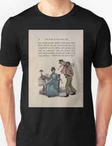 The Queen of Pirate Isle Bret Harte, Edmund Evans, Kate Greenaway 1886 0060 Struck Old Lead at Last Unisex T-Shirt