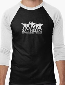 Say Hello to my Little Friends of the Ruinous Powers - White Men's Baseball ¾ T-Shirt