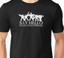 Say Hello to my Little Friends of the Ruinous Powers - White Unisex T-Shirt