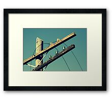 The Lines Are Down Framed Print