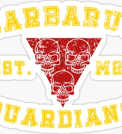 Sports Team: The Barbarus Guardians Sticker