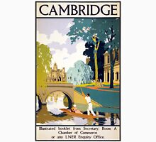 Cambridge Vintage Travel Poster Restored Unisex T-Shirt