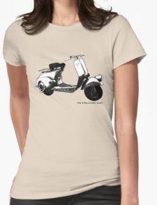 A Casual Classic iconic Vespa scooter inspired design Womens Fitted T-Shirt