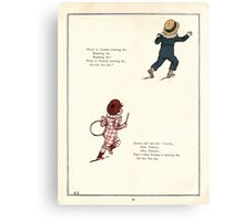 Under the Window Pictures and Rhymes for Children Edmund Evans and Kate Greenaway 1878 0058 Tommy and Jimmy Canvas Print