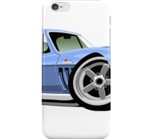 Chevrolet Corvette Stingray C2 caricature light blue iPhone Case/Skin
