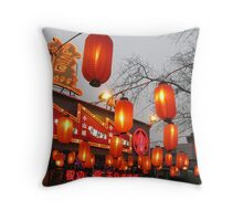 Lanterns Are Red Throw Pillow