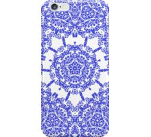 Floral Lacy Vintage Damask Indigo Blue And White  iPhone Case/Skin