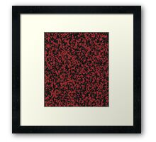 Loose Pattern in Black and Dusty Red Framed Print