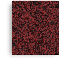 Loose Pattern in Black and Dusty Red Canvas Print