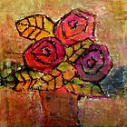 Mother&#x27;s Day Roses, mixed media on canvas by Sandrine Pelissier
