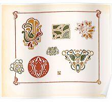 Maurice Verneuil Georges Auriol Alphonse Mucha Art Deco Nouveau Patterns Combinaisons Ornementalis 0044 Poster