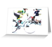 Riding on Speed  Greeting Card