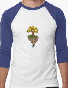 The Earth is Beautiful - Tree Floating Men's Baseball ¾ T-Shirt
