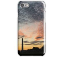 Mother Nature Painted the Sky Over Washington, DC Spectacular iPhone Case/Skin