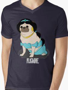 Pugmine! Mens V-Neck T-Shirt