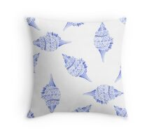 Seashell vector seamless summer pattern Throw Pillow