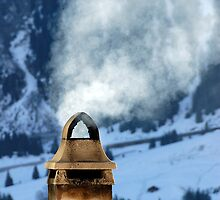 Chimney in the Alps, Switzerland by buttonpresser