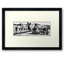 Trains of War Framed Print