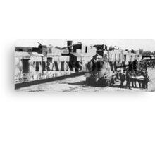 Trains of War Canvas Print