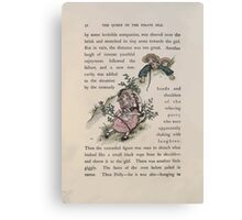 The Queen of Pirate Isle Bret Harte, Edmund Evans, Kate Greenaway 1886 0036 In a Bush Canvas Print