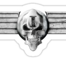 Imperial Skull and Wings - Silver Sticker