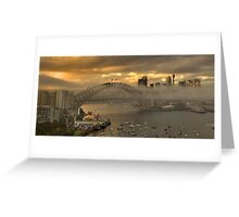 Play Misty  - Sydney Harbour (HDR Panorama) - The HDR Experience Greeting Card